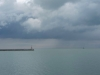 Winter weather over lake Michigan